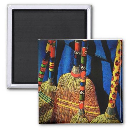 Scandinavian Brooms Magnet