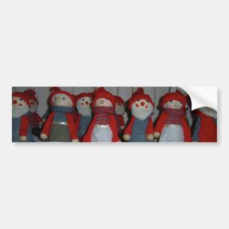 Scandinavian Christmas Dolls Car Bumper Sticker