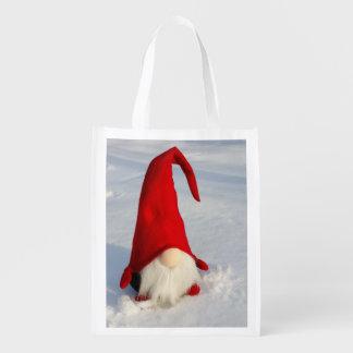 Scandinavian Christmas Gnome Grocery Bag