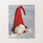 """Scandinavian Christmas Gnome Jigsaw Puzzle<br><div class=""""desc"""">otherwise known as a Tomte Nissa</div>"""