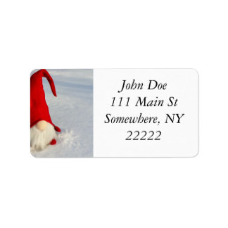 Scandinavian Christmas Gnome Label