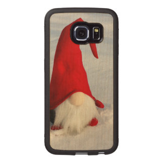 Scandinavian Christmas Gnome Wood Phone Case