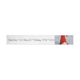 Scandinavian Christmas Gnome Wrap Around Address Label