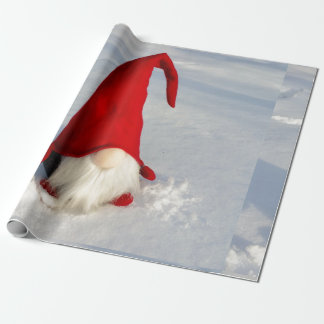 Scandinavian Christmas Gnome Wrapping Paper