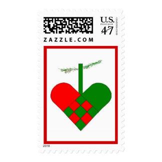 Scandinavian Christmas Hearts Postage