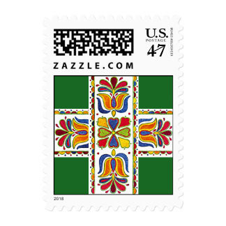 Scandinavian Christmas Holiday Tole Postage Stamps