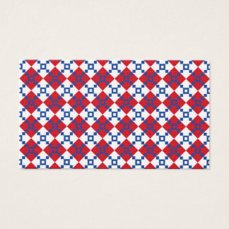 Scandinavian Christmas Pattern Business Card