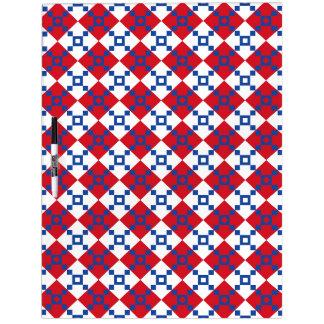 Scandinavian Christmas Pattern Dry Erase Board