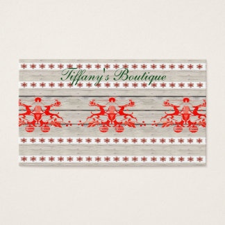 scandinavian christmas snowflakes Nordic Reindeer Business Card