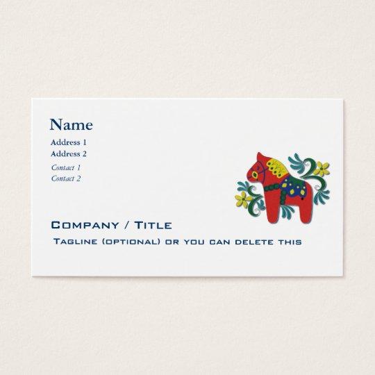 Scandinavian Dala Horse Business Business Card