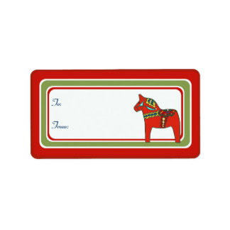 Scandinavian Dala Horse Gift Tag