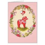 Scandinavian Dala Horse Valentines Card