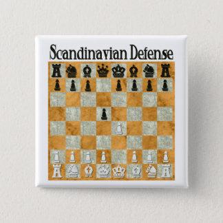 Scandinavian Defense Pinback Button