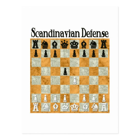 Scandinavian Defense Postcard