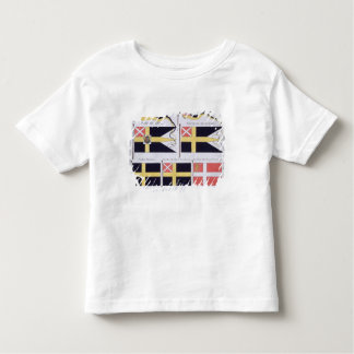 Scandinavian Flags, from a French book of Flags, c Toddler T-shirt
