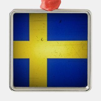 Scandinavian Flags Metal Ornament