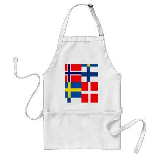 Scandinavian Flags Quartet Aprons