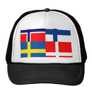 Scandinavian Flags Quartet Hat