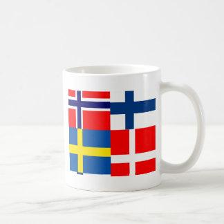 Scandinavian Flags Quartet Mugs