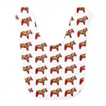 Scandinavian Folk Art Baby Bib