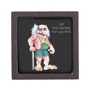 Scandinavian Funny Looking Ogre Troll Keepsake Box