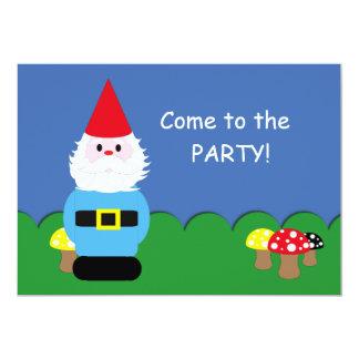 Scandinavian Gnome Customizable Party 5x7 Paper Invitation Card