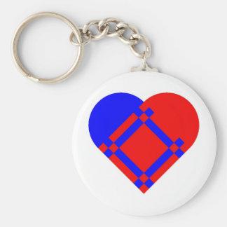 Scandinavian Heart Keychain