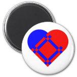 Scandinavian Heart Magnet