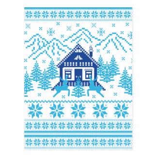 Scandinavian Holiday Design Postcard