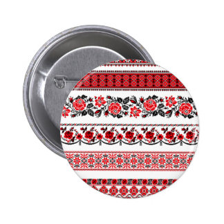 Scandinavian in Red Pinback Buttons