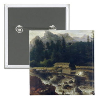 Scandinavian Landscape, 1670 Button