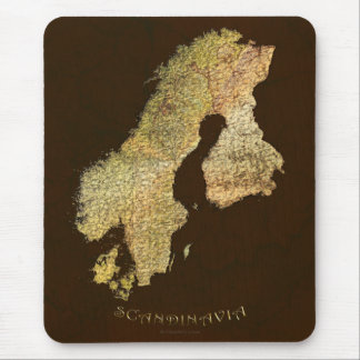 SCANDINAVIAN MAP Mousepad