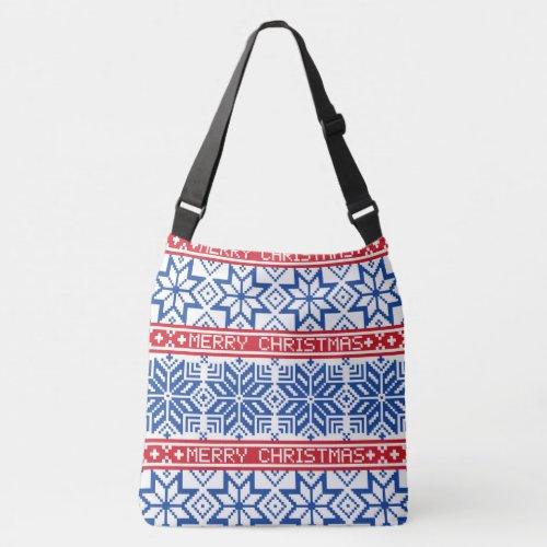 Scandinavian Merry Christmas Crossbody Bag