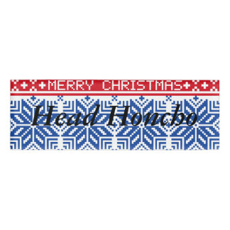 Christmas Name Tags & Badges | Zazzle