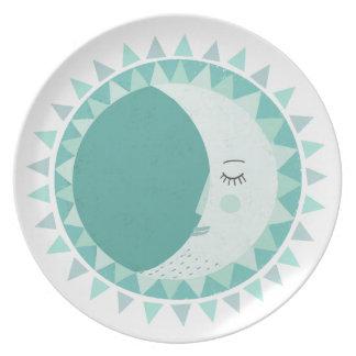 Scandinavian moon plate