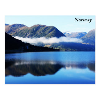 Scandinavian mountains, The North sea, taken in... Postcard
