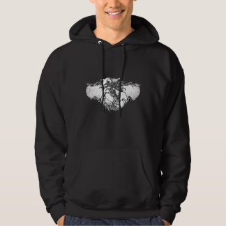 Scandinavian Mythology Thor in Black and White Hoodie