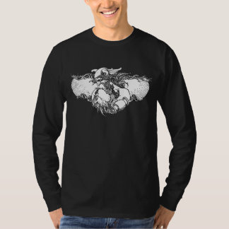 Scandinavian Mythology Thor in Black and White T-Shirt