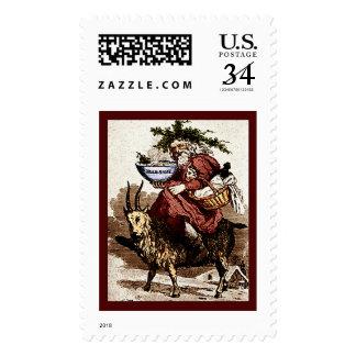 Scandinavian Santa & Christmas Goat Postage