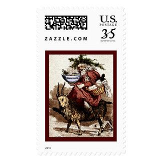 Scandinavian Santa & Christmas Goat Postage Stamps