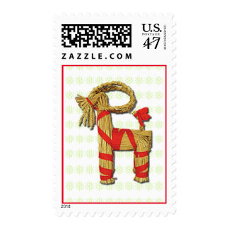Scandinavian Straw Yule Goat Julbock Postage
