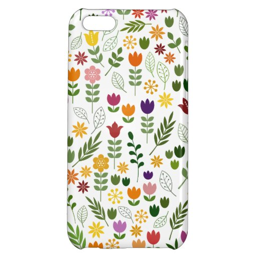 Scandinavian Style Flora & Fauna Pattern Case For iPhone 5C