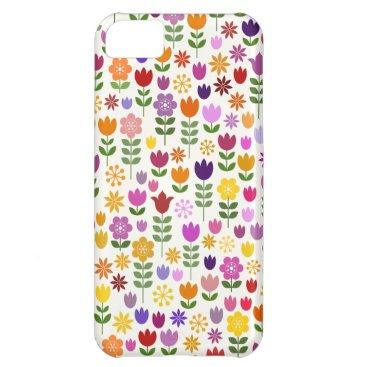 Scandinavian Style Flower Pattern Case For iPhone 5C