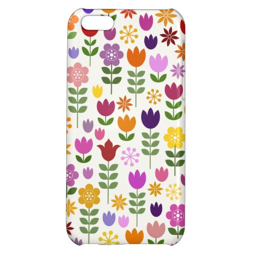 Scandinavian Style Flowers Big Pattern Case For iPhone 5C