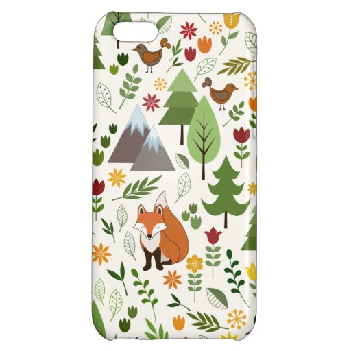 Scandinavian Style Illustrations on Crm Lg Pattern Case For iPhone 5C