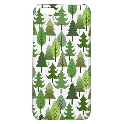 Scandinavian Style Tree Pattern Case For iPhone 5C