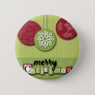 scandinavian Westsern Country Primitive Christmas Pinback Button