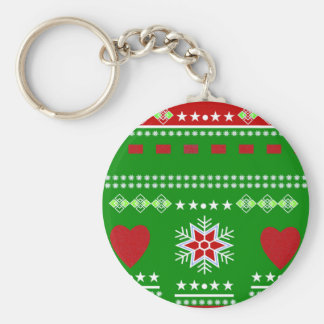 Scandinavian Winter Scene Keychain