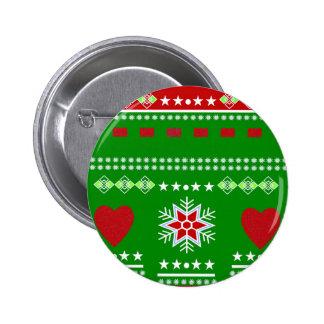 Scandinavian Winter Scene Pinback Button