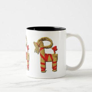 Scandinavian Yule Goat Two-Tone Coffee Mug